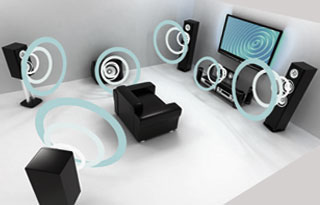Surround Sound Home Theater Flwoer Mound
